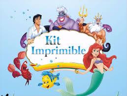 La Sirenita Kit Imprimibles Cumpleanos Personalizados 340 00