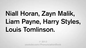 how to say one direction names you
