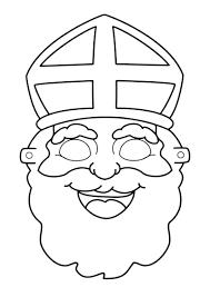 Prins Bili Tekent Een Sinterklaas Masker Print De Kleurplaat Uit