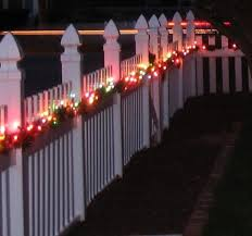 Fence Holiday Decoration Outdoor Christmas Decorations Holiday Decor Fence Decor