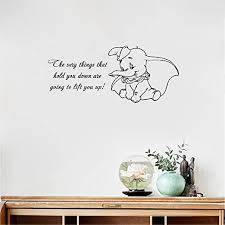 Amazon Com Amieo Wall Decal Sticker Art Mural Home Decor Quote Dumbo Quote Vinyl Wall Decal The Very Wall Sticker Baby Girl Boy Custom Kids Room Art Bedroom Nursery Poster Decor Mural Home