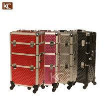 makeup case with 360 degree wheels