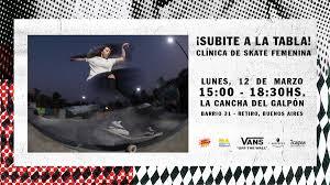 Doceseis Clinica De Skate Femenino Por Vans