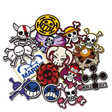 Noizzy Pirates Crew One Piece Anime Flag Logo Car Stickers Cartoon Auto Decal Window Door Motorcycle Vinyl Tuning Car Styling Car Stickers Aliexpress