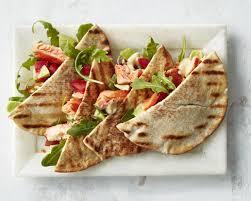 Grilled Salmon Avocado Pitas Recipe ...