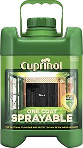 Cuprinol 5244704 One Coat Sprayable Fence Treatment Exterior Woodcare Black Amazon Co Uk Diy Tools