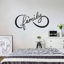 Family Wall Decal Infinity Family Decal Infinite Family Etsy