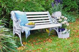 re a cast iron garden bench