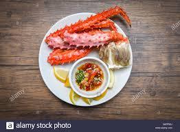 Alaskan King Crab Legs cooked seafood ...
