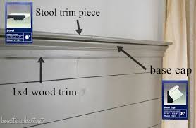 how to cap off a wood plank wall with