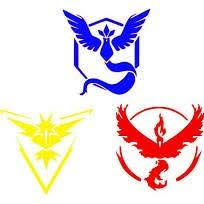 Amazon Com Team Valor Mystic And Instinct Vinyl Decals Stickers Three Pack Cars Trucks Vans Walls Laptops Red Yellow Blue 3 5 5 In Decals Kcd636 Kitchen Dining