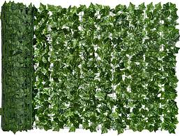Amazon Com Dearhouse Artificial Ivy Privacy Fence Screen 118x39 4in Artificial Hedges Fence And Faux Ivy Vine Leaf Decoration For Outdoor Decor Garden Garden Outdoor