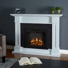 real flame kipling white fireplace