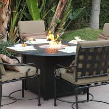 cast aluminum patio fire pit dining