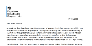 david davis s resignation letter