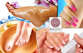 spa manicure pedicure or nail art