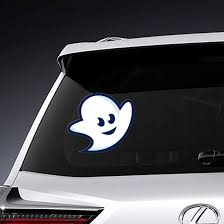 Funny Ghost Happy Halloween Car Decal Vinyl Sticker