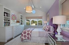 Orange County Purple Bedroom Paint Kids Traditional With Pendant Light Shag Area Rugs Accent Wall