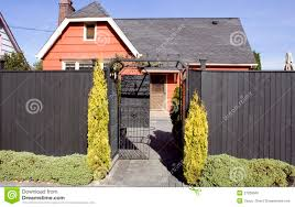 Orange Old House With High Fence Stock Photo Image Of Investments Term 27026506