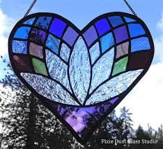 stained glass lotus flower heart