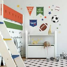 Sports Ball Wall Decals Baseball Soccer Football Tennis Kids Room Game Stickers 34878826059 Ebay