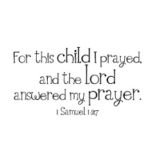 Customized For This Child I Prayed Vinyl Wall Decal 13 X 23