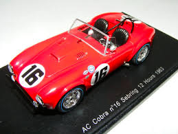 1/43 Spark AC Cobra car #16 1963 12 Hours of Sebring Miles Spencer ...