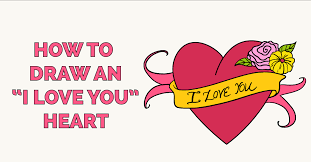 how to draw an i love you heart