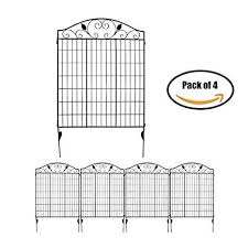 Mtb Black Steel Decorative Fence Panel 2 Leaves Metal Garden Border Folding Fences 44 H36 W Pkg Of Decorative Fence Panels Fence Panels Garden Fence Panels