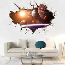 Creative Outer Space Wall Decals Vinyl Self Adhesive Planets Galaxy 3d Smashed Wall Decor Art Sticker Kids Vinyl Mural Poster Custom Gift White Wall Decals White Wall Stickers From Carrierxia 4 53 Dhgate Com