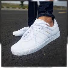 adidas shoes gazelle white leather