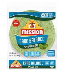 spinach herb soft taco flour tortillas