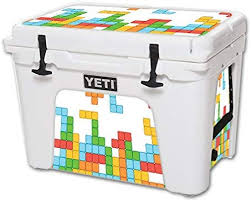 Amazon Com Mightyskins Cooler Not Included Skin Compatible With Yeti Tundra 50 Qt Cooler Wrap Cover Sticker Skins Tetris