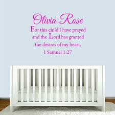 Winston Porter Colindale For This Child I Have Prayed Custom Wall Decal Wayfair
