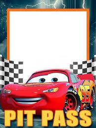 Lightning Mcqueen Invitation Template Free Cumpleanos Cars
