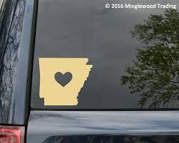 Arkansas Heart State Vinyl Decal Sticker 6 X 5 25 Love Ar Minglewood Trading