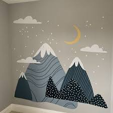 Mont Blanc Wall Decals Mountain Wall Decal Mountain Wall Etsy In 2020 Mountain Wall Decal Wall Decals Nursery Wall Decals