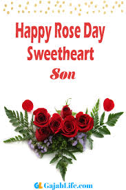 son happy rose day images wishes messages status cards