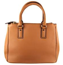 pamela tan leather handbag