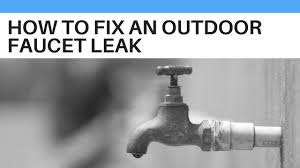 how to fix an outdoor faucet leak