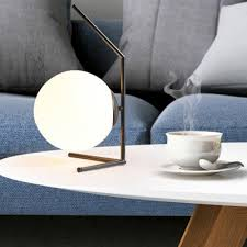 globe desk lamp post modern white glass