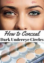 hide dark circles under eyes without
