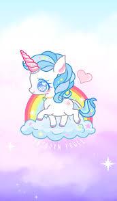 Blue Unicorn Power Kawaii Unicorn Unicorn Wallpaper Unicorn