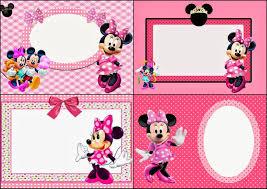 Minnie Mouse Fiesta En Rosa Invitaciones Para Imprimir Gratis