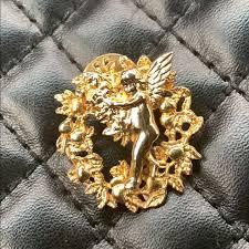 Vintage Jewelry | Dixie Smith Gold Plate Angle Fairy Pin | Poshmark