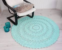 round mint green doily rug 55 in