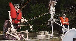 Image result for picture of a skeleton fishing