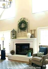 mirrors over fireplace ideas