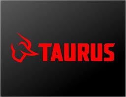 Taurus Firearms Pistol Revolver Logo Vinyl Decal Car Window Gun Case S Kandy Vinyl Shop