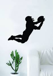 Football Player Silhouette Wall Decal Home Decor Art Sticker Vinyl Bed Boop Decals